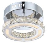 Modern 9W LED Chrome and Crystal Ceiling Lamp (LED-15113)