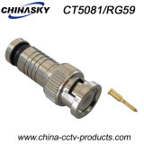 CCTV Male Compression BNC Connector for Coaxial Cable (CT5081/RG59)