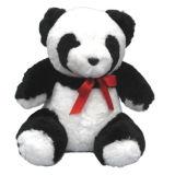 Cute Panda Stuffed Animal Toys in Natural Sheepskin