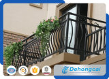 EU Standard Residential Galvanized Steel / Wrought Iron Balcony Safety Fence