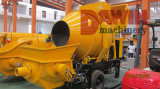 Fully Hydraulic Pumping System with Double Concrete Cylinders and Double Oil Cylinders Concrete Mixer Pump