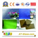 3-8mm Clear Patterned Glass/Tinted Patterned Glass for Window