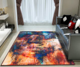 Polyester Printed Carpet with Sponge Sandwich Nonwoven Plastic Dropping Backing