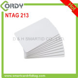 White PVC Printable 13.56MHz NTAG213 blank NFC card