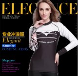 2016 Anti-Static Lycra Long Sleeve Lady′s Wetsuit&Sportwear (CL-731)