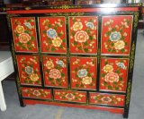 Antique Furniture Chinese Wooden Painted Cabinet Lwb718