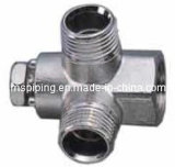 Screw Fittings in Brass for Multilayer Pipes Wall Plated Tee