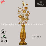 China hot sale gold silver flower vase floor standing for Gold flower floor lamp