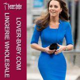2015 Half Sleeves Office Ladies Work Dress Wear (L36027-1)
