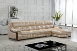 Home Furniture, Italian Luxery Genuine Leather Corner Sofa Yk-88211#