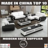Classical Genuine Leather Sectional Sofa with Armrest