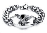 Hot Personality Eagle Design Man Bracelets Fashion Stainless Steel Link Chain Friendship Jewelry Cool Accessories