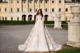 off The Shoulder Half Sleeve Ball Bridal Wedding Gown