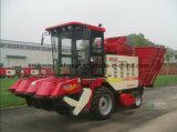 Four Rows Corn Combine Harvester