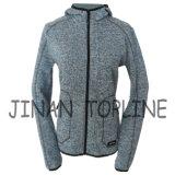 Women Long Zipper Cationic Hoody Fleece Jacket