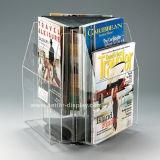 Triangle Rotatable Acrylic Menu Stand Plexiglass Brochure Holder (BTR-H6048)
