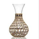 Hand Blown Bulk Glass Water Decanter with Weave