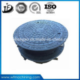 En124 600mm Sand Casting Manhole Cover with Hinge and Lock