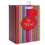 3D Craft Paper Bags for Valentine with Glister Powder