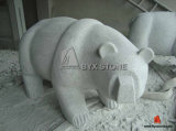 Light Grey Granite Bear for Garden Decoration