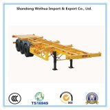 China 40FT Tri Axle 40t Skeleton Container Semi Trailer for Promotion
