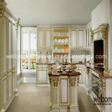 ISO Welbom Solid Wood White Luxurious European Style Kitchen Cabinet