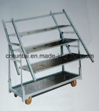 Zinc Plated Display Flower Trolley Mesh Rack Tool Cart