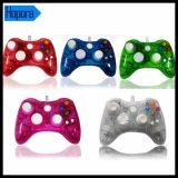 Blue Wired Transparent Controller for xBox 360 Console
