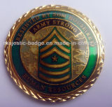 Military Coin Customized Plating Gold Diamond Cut Edge
