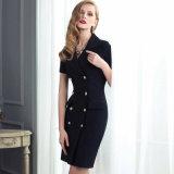 Elegant Formal Black Color Ladies Dresses Patterns of China Clothing