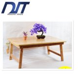 Custom Logo Moving Folding Bamboo PC Table for Bed
