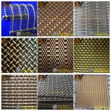 Architectural Metal Decorative Ceiling Covering Partition Wall Dining Hall Hotels Crimped Stair Balcony Balustrade Handrail Elevator Glass Laminated Wire Mesh