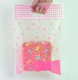 Custom Printed Plastic Carrier Plastic Die Cut Bag Punch Hole Handle Shopping Bag