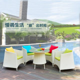 Hot Sales Factory Rattan /Wicker Table Chair Set / Outdoor Leisure Furniture Coffee Shop Table Chair Set Z362