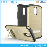 Rugged Impact Hard Kickstand Phone Case for LG Stylo 3
