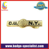 Custom Made Tie Clip with Gold Plating (HS-TC012)