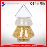 Container Christmas Tree Shaped Glass Jar Candy Cookie Storage Jar