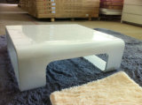 Wooden White High Gloss Coffee Table, Tea Table