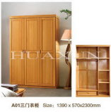 2340X570X2300mm Five Doors Solid Wood Wardrobe (A01D)