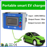 Green Portable EV Charger for Electric Vehicle