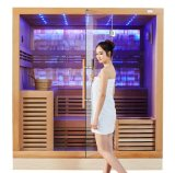 High Quality Canadian Cedar Wood Harvia Heater High End Design Sauna House M-6055