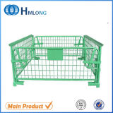 Folding Stackable Pallet Mesh Cage with Wooden Pallet