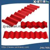 Curved Roof Sheets in Red Color or Galvanized