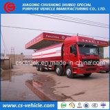 Heavy Duty HOWO 12-Wheels 30cbm Oil Tank Truck 35cbm Fuel Tank Truck for Sale