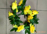 Artificial Flower Wreath for Home Decoration