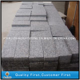 Natural Cheapest Flamed G636 Pink Granite Driveway Cobble Paving Stones