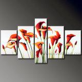 Home Decor Modern Canvas Art Flower Oil Painting (FL5-003)