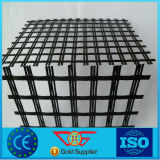 Earthwork Products of Fiberglass Geogrid with 25.4mm Grid for Road Construction