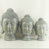 Handmade Home Decoration Resin Buddha Head Statue for Sale
