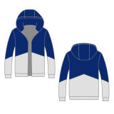 Printed Logo Winter Coat Men Hoodies Sports Biker Jacket